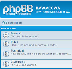 BMW MCC WA Forum Classifieds